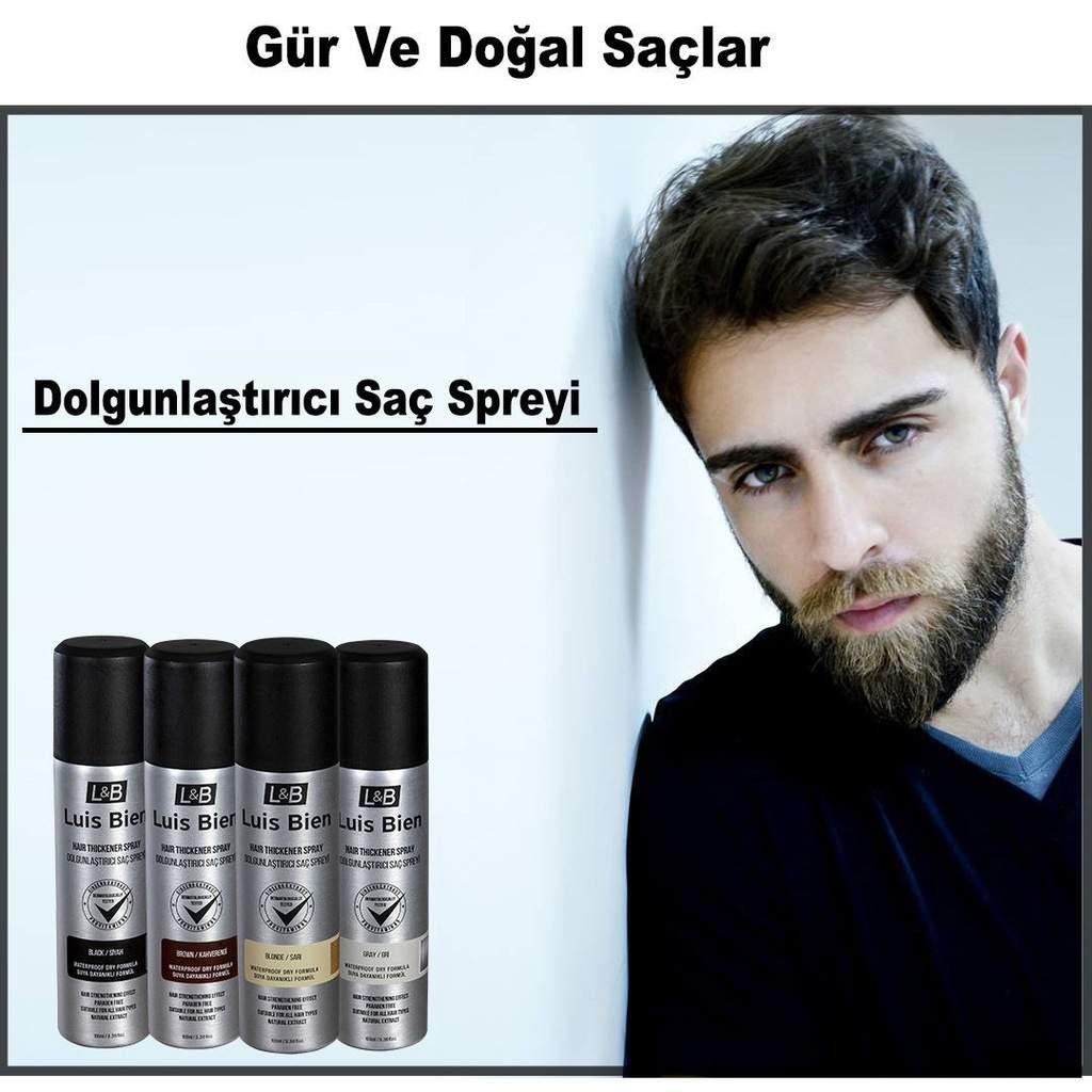 KAHVERENGİ Luis Bien Saç Dolgunlaştırıcı SPREY EN YENİ FORMÜL