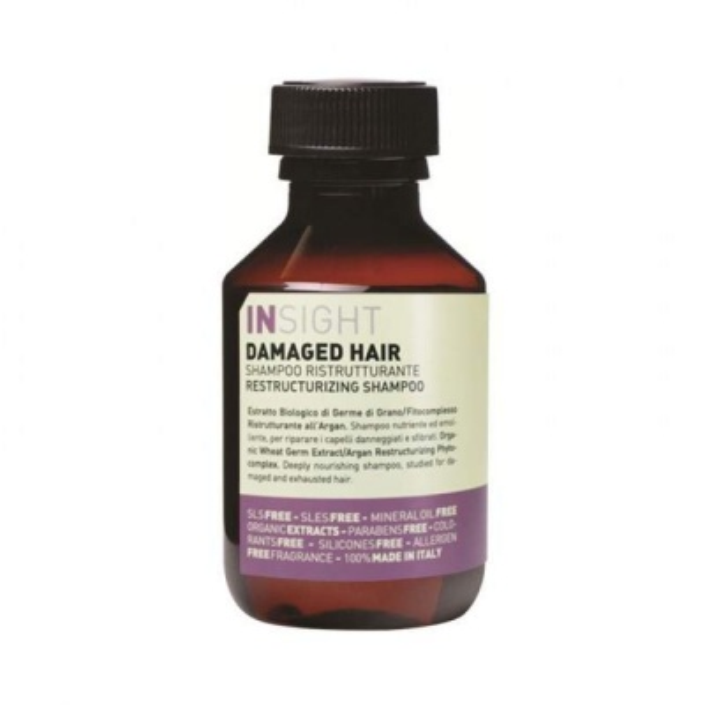INSIGHT Damaged Hair Yıpranmış Saçlar İçin Parabensiz Sülfatsız Onarıcı Şampuan 100ml