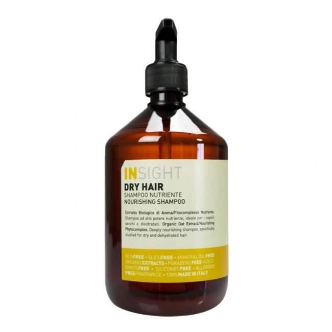 INSIGHT Dry Hair Kuru Saçlar İçin Sülfatsız Parabensiz Besleyici Şampuan 500ml